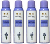 Yardley London English Lavender Body Spray - For Women(600 ml, Pack of 4)