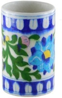 Chave 1 Compartments Blue Pottery Pen Holder(Blue, White)