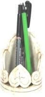 Artlivo Desk Organizer 1 Compartments Marble Pen Stand(White)