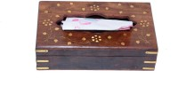 Univocean 1 Compartments Wooden Tissues Paper Holder(Brown)