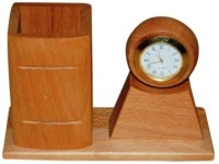 Onlineshoppee Aca 1 Compartments Wooden Pen Holder(Yellow)