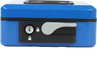 shraddha collections Lever 2 Compartments Steel Cash Box(Blue)
