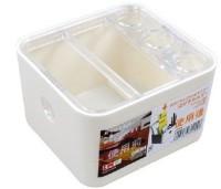 KM 5 Compartments Plastic Stationery Holder(Cream)