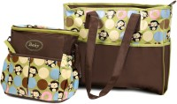 Babyoodles polymer lining Tote Diaper Bag(Green & Brown)