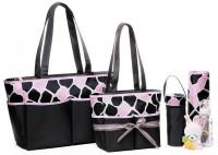 Baby Grow Colorland Amber Tote Changing Prunus Mum Flower Diaper Bag 5pcs Set(Grey|Pink Cowy)