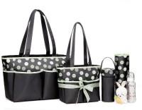 Colorland Amber Tote Changing Mother Bag Diaper Bag 5pcs Set(Black/Green Marble)
