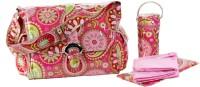 Kalencom Laminated Buckle Bag Messenger Diaper Bag(Pink)
