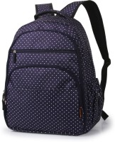 T-Bags Mommy And Baby Dark Blue Backpack Diaper Bag(Blue)