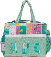 OLE BABY Big Multi-Utility Amazing Abstract Fabric Diaper Bag(Blue)