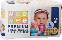 MeeMee Premium Breathable Diapers - L(18 Pieces)