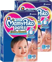 MamyPoko EXTRA ABSORB PANT STYLE DIAPERS ( SET OF 02 PACKS OF 48 PCs) - L(2 Pieces)