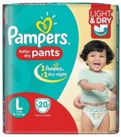 Pampers Pants Diapers - L(20 Pieces)