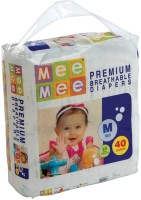 MeeMee Premium Breathable Diapers - M(40 Pieces)