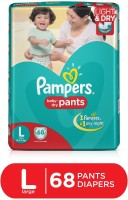 Pampers Pants Diapers Large Size 68 pc Pack - L(68 Pieces)