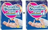 MamyPoko EXTRA ABSORB PANT STYLE DIAPERS ( SET OF 2 PACKS OF 60 PCs. ) - S(2 Pieces)