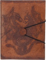Craft Play Regular Notebook(Dragon Emboss With Button, Tan)