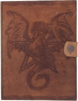 Craft Play Regular Notebook(Dragon and Star Emboss With Button, Tan)