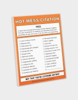 Knock Knock A4 Note Pad(Hot Mess Citation, Multicolor)