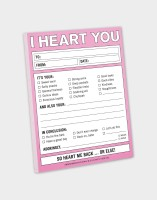 Knock Knock A4 Note Pad(I Heart You, Multicolor)