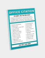 Knock Knock A4 Note Pad(Office Citation, Multicolor)