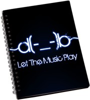 Rangeele Inkers A5 Notebook(Let The Music Play, Multicolor)