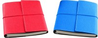 Eco-Leatherette A5 Diary(Combo, Dark Pink, Turquoise, Pack of 2)