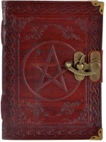 Craft Play Regular Notebook(Leather Star Emboss With Lock, Brown)