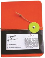 Tiara Diaries Designer PU Jute Lockable A6 Notebook ruled 210 Pages(Orange)