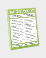 Knock Knock A4 Note Pad(Nerd Alert, Multicolor)