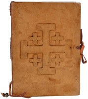 Craft Play Regular Notebook(Leather With Knot, Brown)