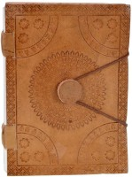 Craft Play Regular Notebook(Leather Emboss With Button, Brown)