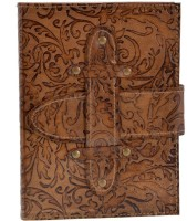 Craft Play Regular Diary(Leather Emboss with Belt, Tan)