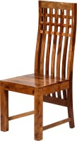 View Induscraft Solid Wood Dining Chair(Set of 1, Finish Color - Brown) Furniture (Induscraft)