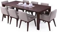 Urban Ladder Arco - Leon Solid Wood 8 Seater Dining Set(Finish Color - Dark Walnut)
