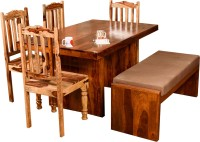 View Induscraft Solid Wood 6 Seater Dining Set(Finish Color - Brown) Furniture (Induscraft)