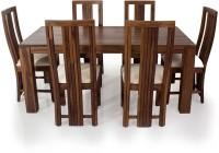 View Evok Della Solid Wood 6 Seater Dining Set(Finish Color - Brown) Furniture (Evok)