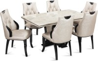 Durian FISHER Stone 6 Seater Dining Set(Finish Color - NA)
