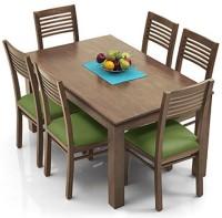 View Urban Ladder Arabia - Zella Solid Wood 6 Seater Dining Set(Finish Color - Teak) Furniture (Urban Ladder)
