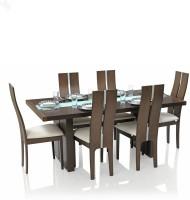 View RoyalOak Daffodil Solid Wood 6 Seater Dining Set(Finish Color - Honey Brown) Price Online(RoyalOak)