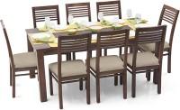 View Urban Ladder Arabia XL - Zella Solid Wood 8 Seater Dining Set(Finish Color - Teak) Furniture (Urban Ladder)