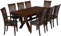 Durian HASTINGS Solid Wood 8 Seater Dining Set(Finish Color - Mahogany)