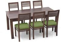View Urban Ladder Arabia XL - Zella Solid Wood 6 Seater Dining Set(Finish Color - Teak) Furniture