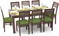 View Urban Ladder Arabia XL - Zella Solid Wood 8 Seater Dining Set(Finish Color - Teak) Furniture