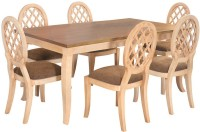 @home by Nilkamal Miraya Solid Wood 6 Seater Dining Set(Finish Color - NA)