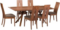 Parin Solid Wood 6 Seater Dining Set(Finish Color - Brown)