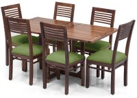 View Urban Ladder Danton 3 - to - 6 Extendable - Zella Solid Wood 6 Seater Dining Set(Finish Color - Teak) Furniture (Urban Ladder)
