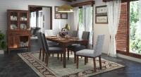 Urban Ladder Malabar XL (With Crockery Unit) Solid Wood 6 Seater Dining Set(Finish Color - Teak)