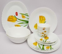 Laopala Tulip Passion Pack of 21 Dinner Set(Ceramic)