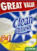 Clean N Fresh 5in1 Automatic Diswasher 15 Tablets Dishwashing Detergent(270 g)