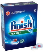 Finish All In One Dishwasher Tablets Dishwashing Detergent(65 Pod)